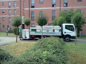 Trasporto cassonetti rifiuti in efficenza e sicurezza
